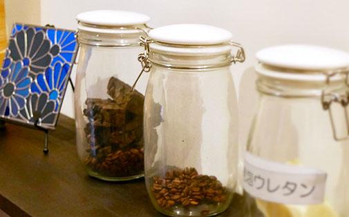 コーヒー豆の実験容器